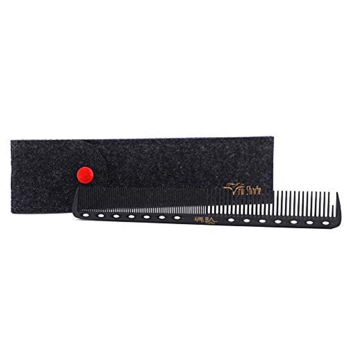 しおれた取り戻す船乗りBarber Comb,Hair Cutting Combs Carbon Fiber Salon Hairdressing Comb 100% Anti Static 230℃ Heat Resistant with...