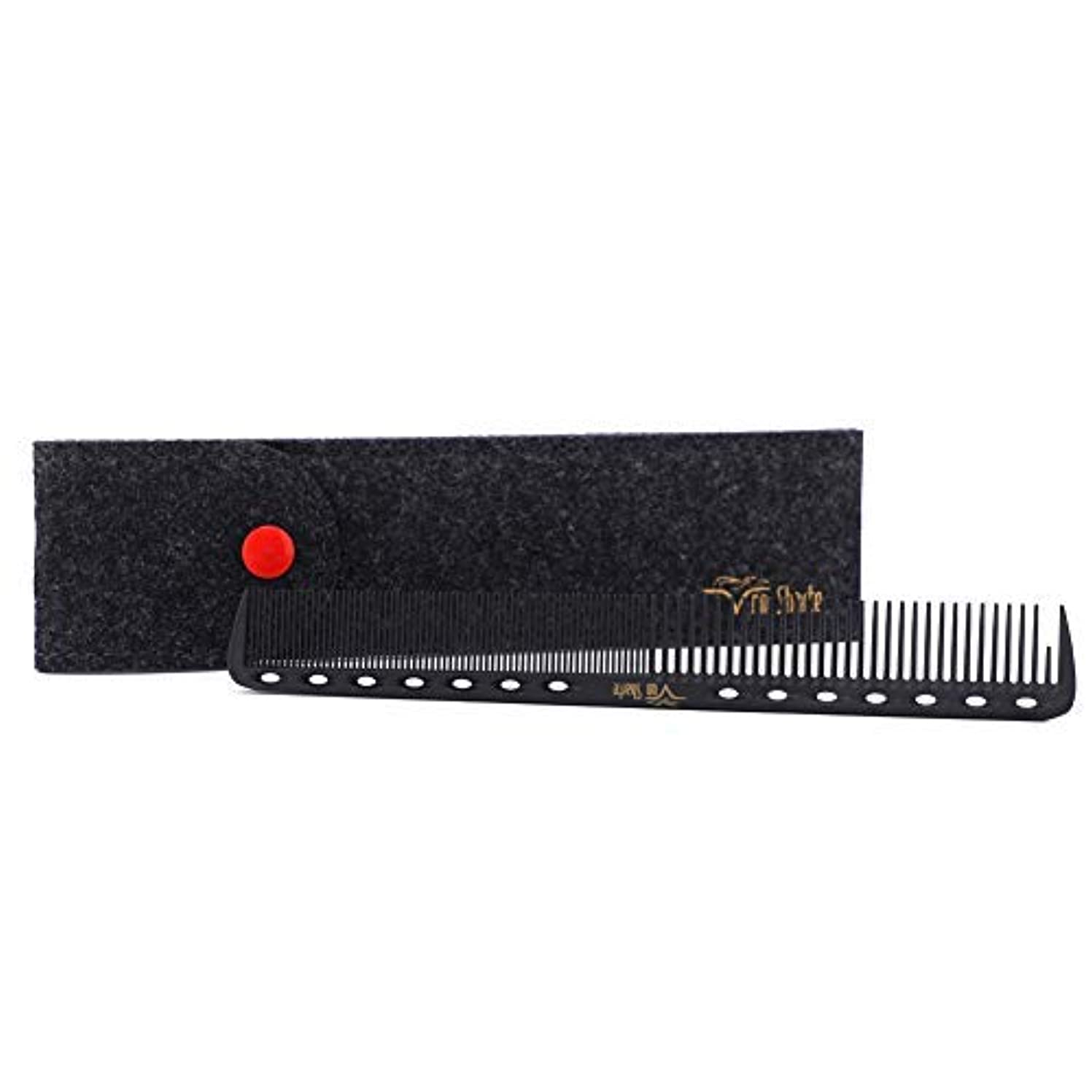 収縮ピンポイント更新Barber Comb,Hair Cutting Combs Carbon Fiber Salon Hairdressing Comb 100% Anti Static 230℃ Heat Resistant with...