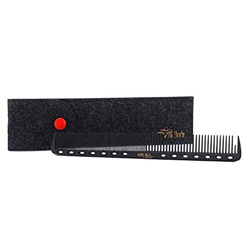 Barber Comb,Hair Cutting Combs Carbon Fiber Salon Hairdressing Comb 100% Anti Static 230℃ Heat Resistant with...
