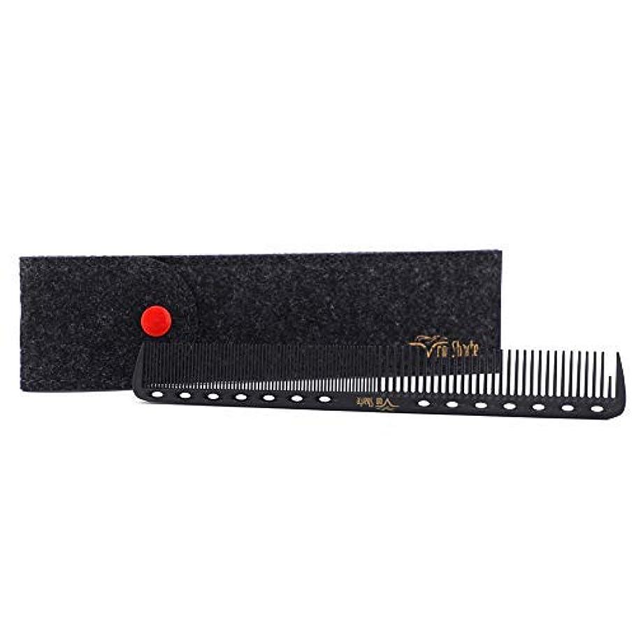 感度不利パーティションBarber Comb,Hair Cutting Combs Carbon Fiber Salon Hairdressing Comb 100% Anti Static 230℃ Heat Resistant with...