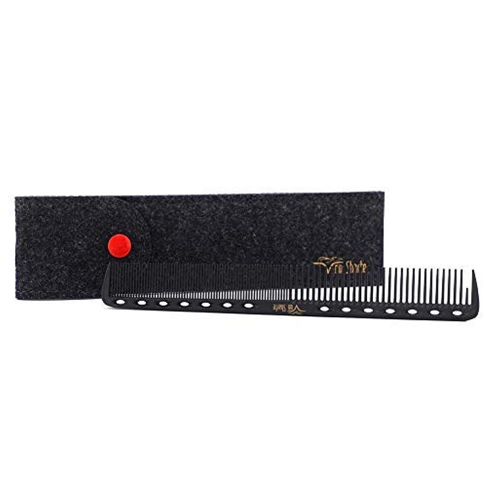 不名誉な敬な持つBarber Comb,Hair Cutting Combs Carbon Fiber Salon Hairdressing Comb 100% Anti Static 230℃ Heat Resistant with...
