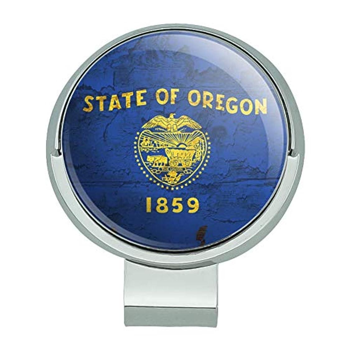 小間ラベ胆嚢素朴なオレゴン州旗苦しめられた米国磁気ボールマーカー付きゴルフハットクリップ