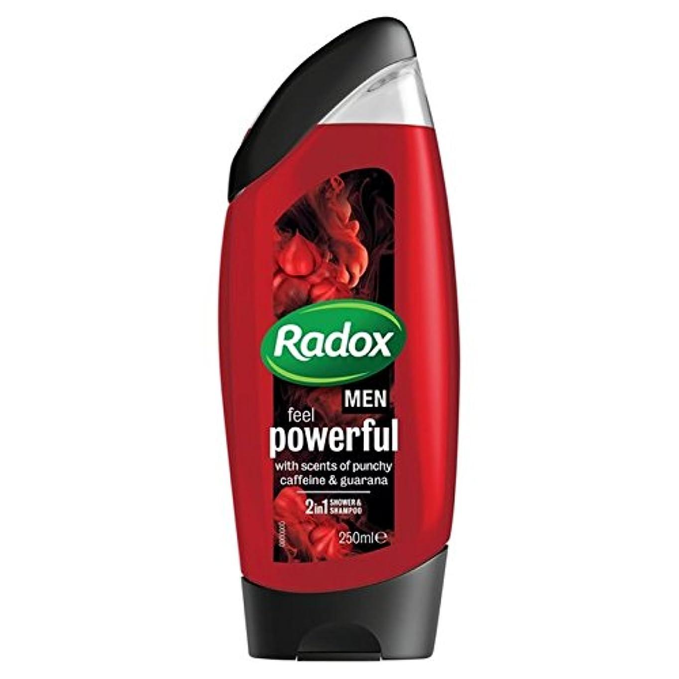 インスタント破壊的な差別する男性は、強力なシャワージェル250ミリリットルを感じるため x4 - Radox for Men Feel Powerful Shower Gel 250ml (Pack of 4) [並行輸入品]