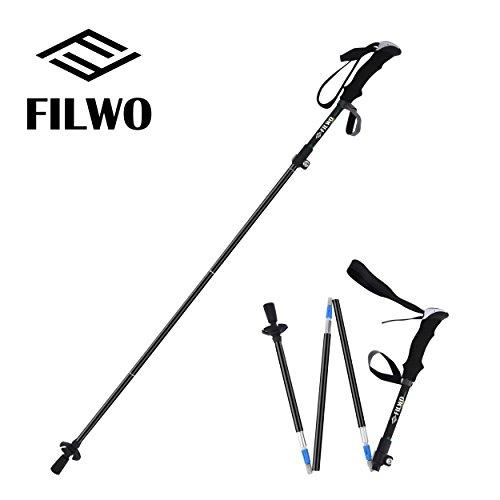 [해외]FILWO 트레킹 폴 워킹 폴 등산 지팡이 등산 스틱 경량 알루미늄 1 + 4 단식 충격 방지 기능이있는 여행 하이킹 워킹 배낭 여행 설산 야외 블루   그린   1 개   2 개 세트/FILWO trekking pole walking pole climbing stick trekking stick light we...