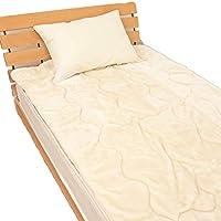 敷きパッド あったかボリュームタイプ シングルサイズ 100x205cm 暖か パッドシーツ 敷パット 217DK21S (アイボリー)