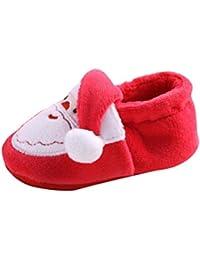 クリスマス特別ベビーシューズ 歌を愛する ベビー靴  乳児靴  耐磨  温かい 可愛い 新生児 シューズ 赤ちゃん用 屋内靴 赤ちゃん冬暖かい靴スエード快適な子供の幼児靴(3ヶ月~12ヶ月)