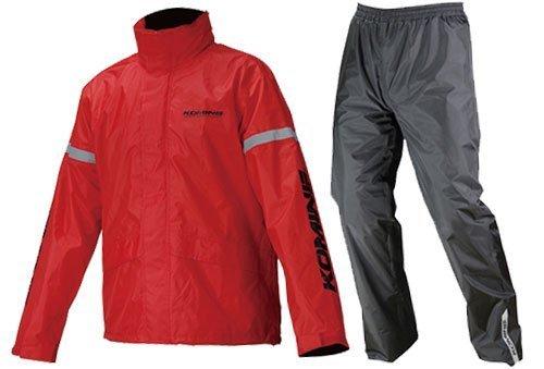コミネ KOMINE バイク レインスーツ STD レインウェア GTX スプリーム レインウェア 雨具 防水 カッパ レッド XL 03-543 RK-543