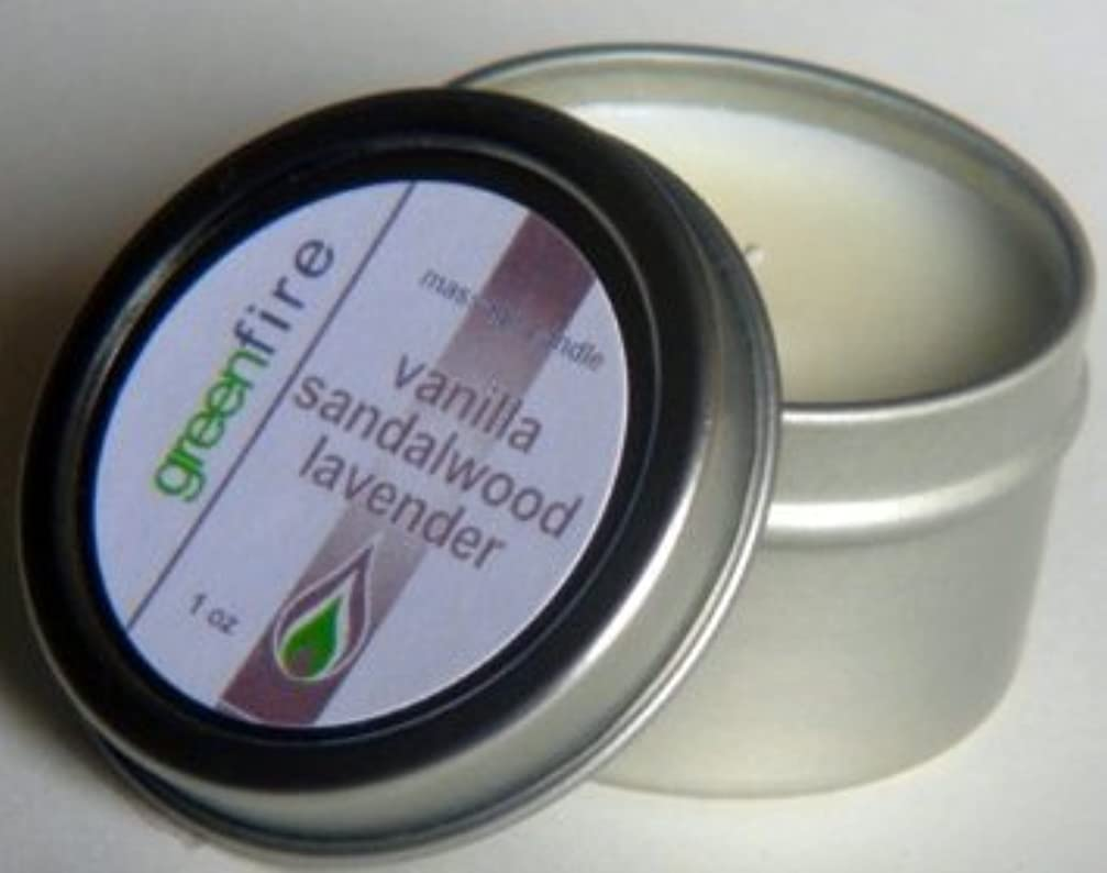 タック水星幻想的グリーンファイヤーマッサージキャンドル ラベンダー?サンダルウッド?バニラの香り(サイズ:29.6mL)