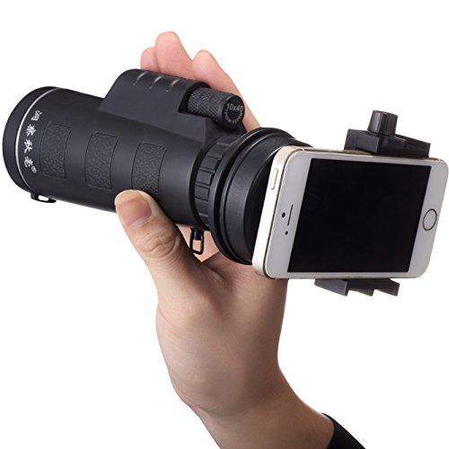 YOKINO 人気 単眼鏡 高倍率 望遠鏡 1600m/9600m視野 10X40倍 撮影可 クリップ式 キットセット 望遠レンズ 携帯カメラレンズ 携帯電話の望遠鏡 カメラレンズキット スマホレンズ 望遠ズームレンズ 取り外し可能 360度回転可能 横幅調節 脱落防止 携帯カメラ ズーム望遠鏡 HDレンズ 光学 望遠鏡 ナイトビジョン 小型 軽量 強力 各種スマートフォン対応 観戦 /自然観察運動会/コンサート/ 旅行 / アウトドア/ スポーツ / ライブ / 夜景 に
