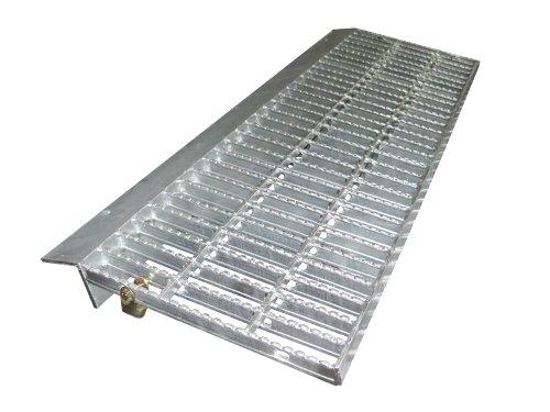 ノンスリップ型歩道上りグレーチング 乗用車用(2t荷重) 適用段差100~120mm 長さ1000mm HGLX-1000-2