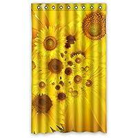 ファッション ヒマワリ カスタム ウィンドウカーテン遮光50x84 約127cm(W)x 213cm(H)