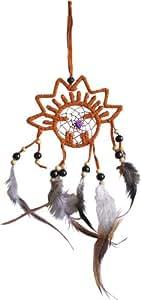 ドリームキャッチャー ネイティブアメリカン インディアン スエードレザー お守り ;IDC-033E: おもちゃ