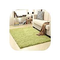 13色 リビングルーム/寝室 ウールラグ 滑り止め ソフトカーペットマット 80x120CM グリーン