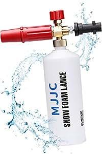 MJJC ケルヒャー用フォームガン 泡洗車 Karcher K2~K7に対応 カーシャンプ 高発泡 高圧洗浄機 (真ちゅうバージョン) (日本語説明書+1年間保証) 【正規品】