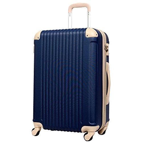 M型 ネイビー×ベージュ / FK1212-1(POP・DO) スーツケース キャリーバッグ TSAロック搭載 大型 超軽量