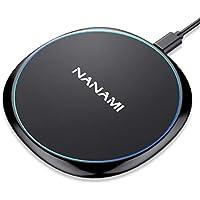 NANAMI ワイヤレス充電器 iPhone X/XS/ XR/XS Max/ 8/8 Plus Qi 7.5W急速充電対応 Galaxy S9/S9 Plus/Note8/S8/S8 Plus/S7/S7 Edge/Note 5/S6 Edge Plus 10W対応 Qi認証済み 置くだけ充電 qi 充電器