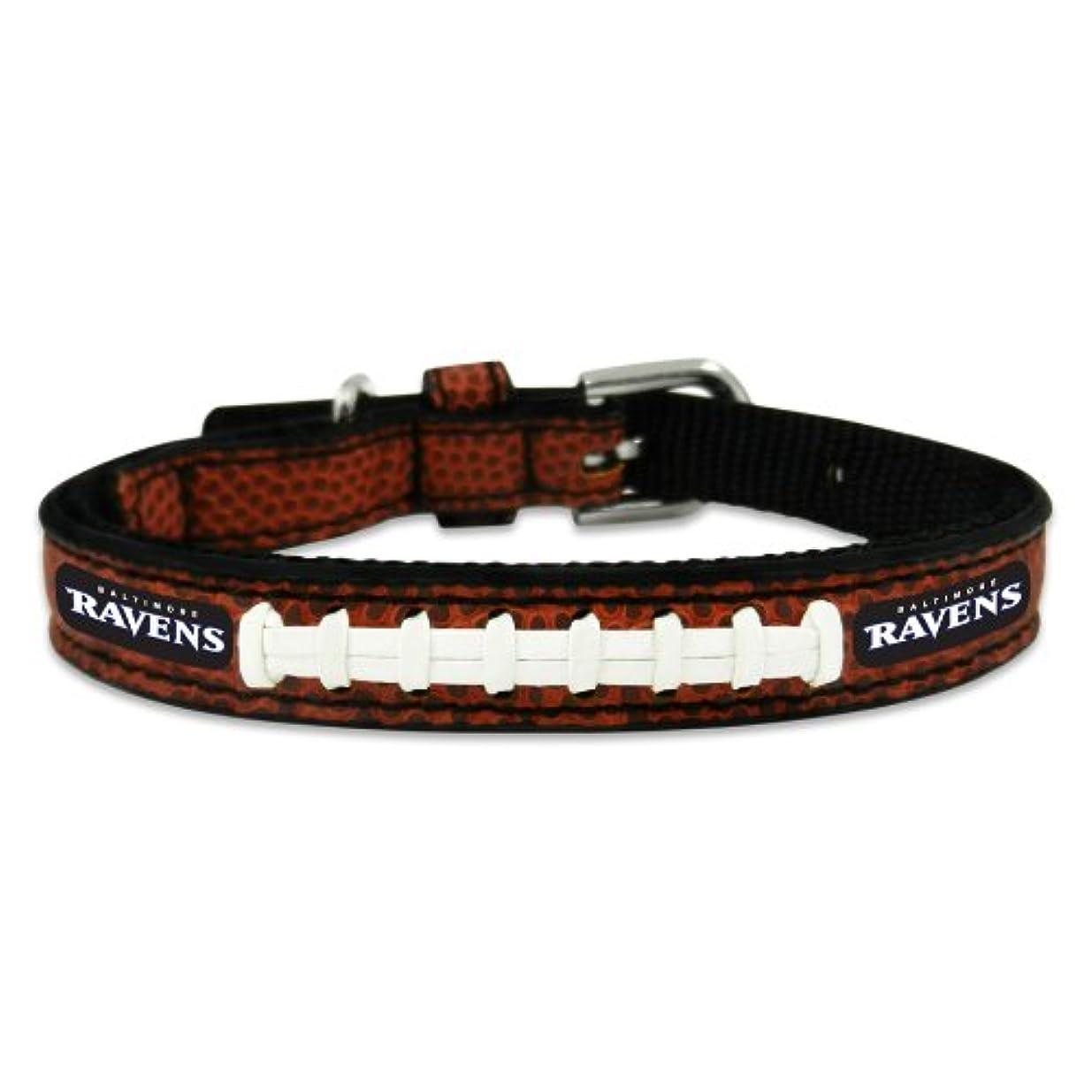 侵入する四くびれたBaltimore Ravens Classic Leather Toy Football Collar