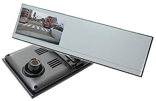 ミラー型 ドライブレコーダー 4.3インチ液晶 Gセンサー HD 常時録画 暗視 シガー電源 SDカード付属[DMDR-17]