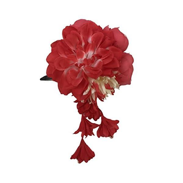 [粋花] Suika フラワークリップ 5165 赤の商品画像