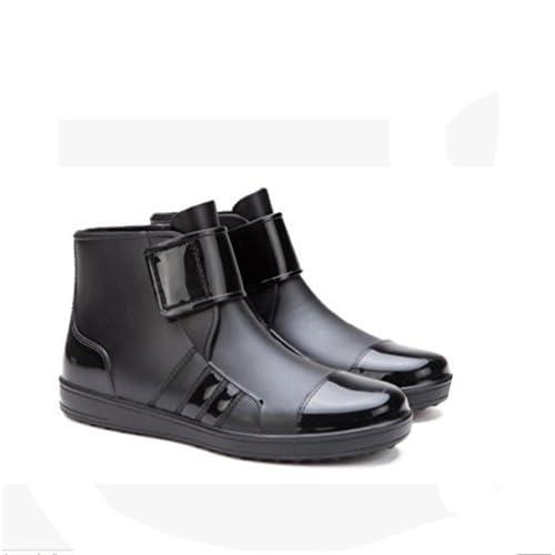LOBTY ファションメンズショート筒レインブーツ ノンスリップウォーターシューズ レインブーツ おしゃれレインブーツ  完全防水 ビジネスレインブーツ  作業靴 軽量 メンズ ショート長靴  レインブーツ ちょっとブーツ  防水 雨靴 長靴 レインブーツ