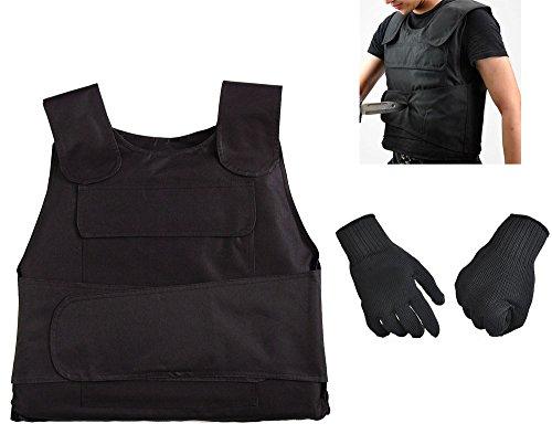 RISACCA 高性能 防刃 ベスト + 防刃 手袋 + 収納ケース タクテ...