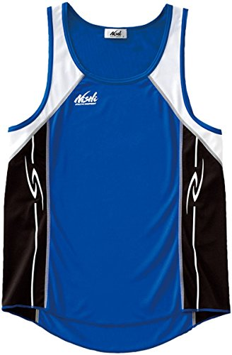 NISHI(ニシ・スポーツ) 陸上競技ウェア T&F ランニングトップ(MEN'S) 65-005.4207 マリンブルー×ブラック O