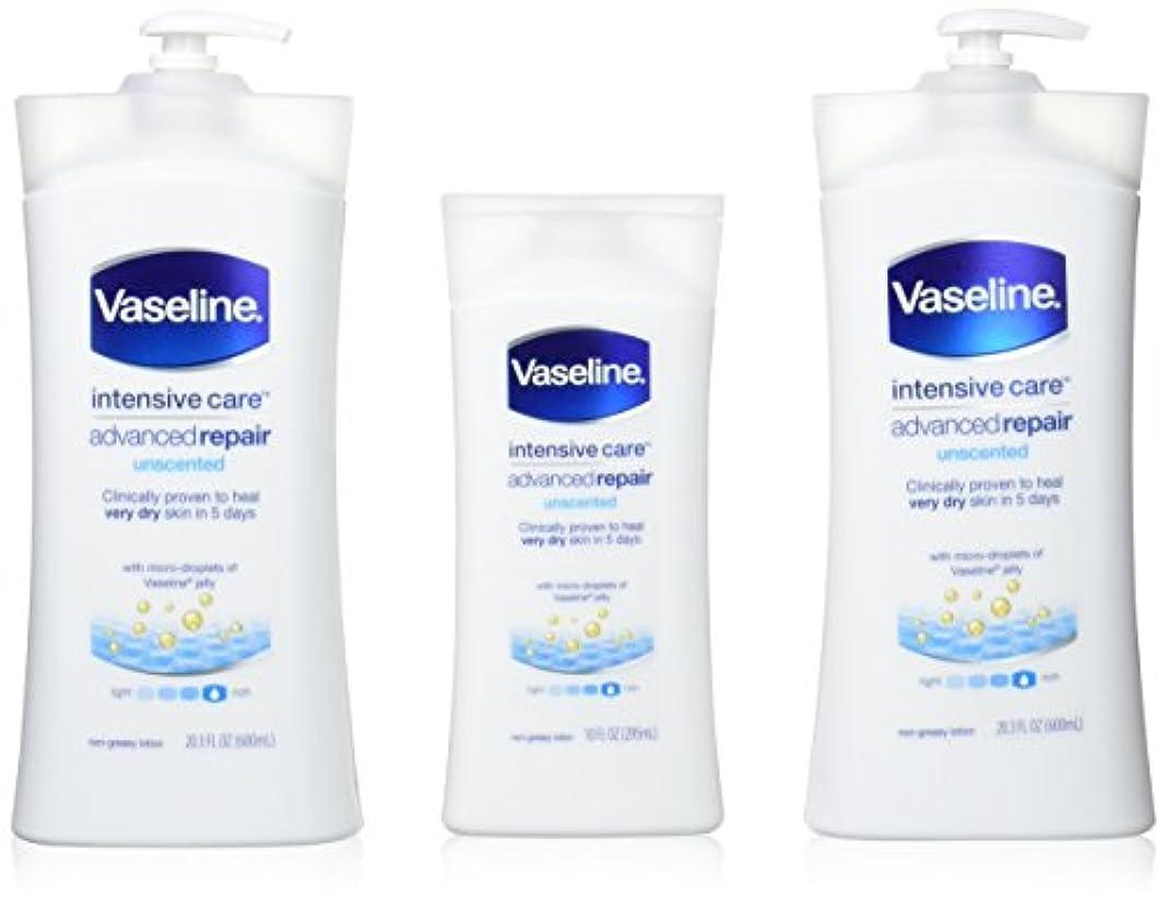 腹部写真を描く居住者Vaseline [repairing moisuture]リペアリング モイスチャー ローション 3本セット 642498