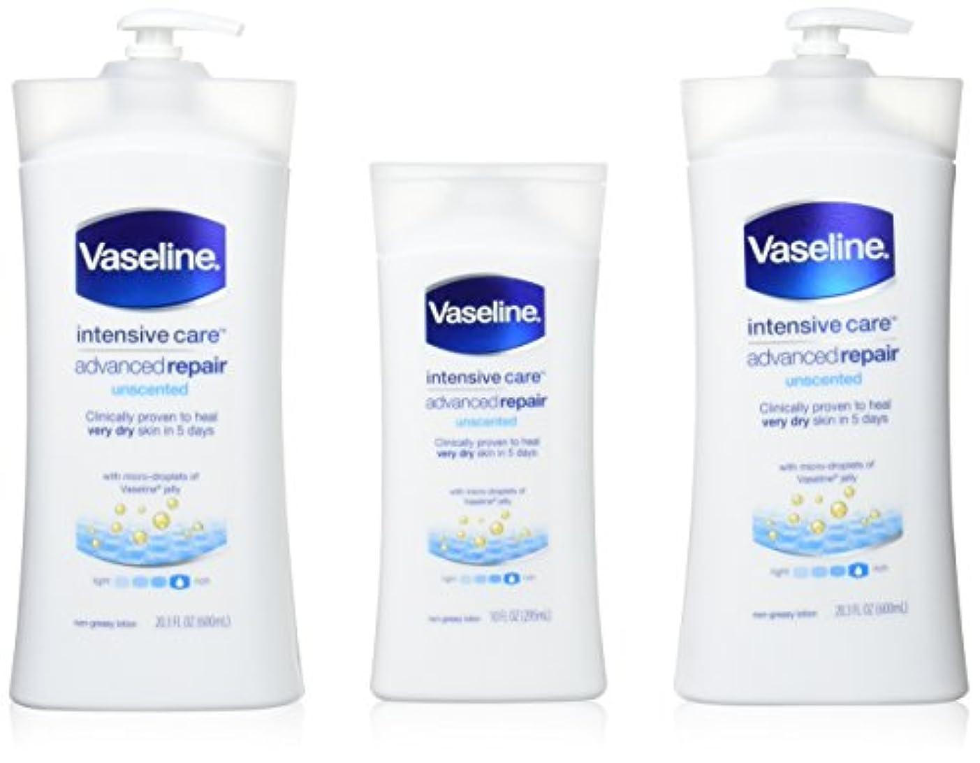 お金奨励します把握Vaseline [repairing moisuture]リペアリング モイスチャー ローション 3本セット 642498