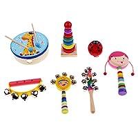 Baoblaze 全6種類 楽器 おもちゃ 木製楽器おもちゃ 女の子 - 7個-2