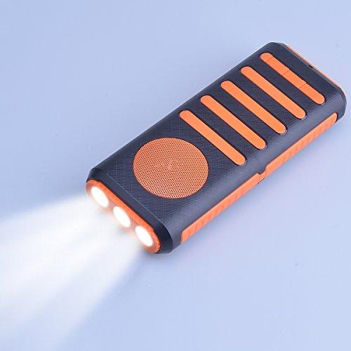 Aedon 多機能Bluetoothスピカー モバイルバッテリー7800mah 懐中電灯 軽量 携帯便利 黄色+黒色