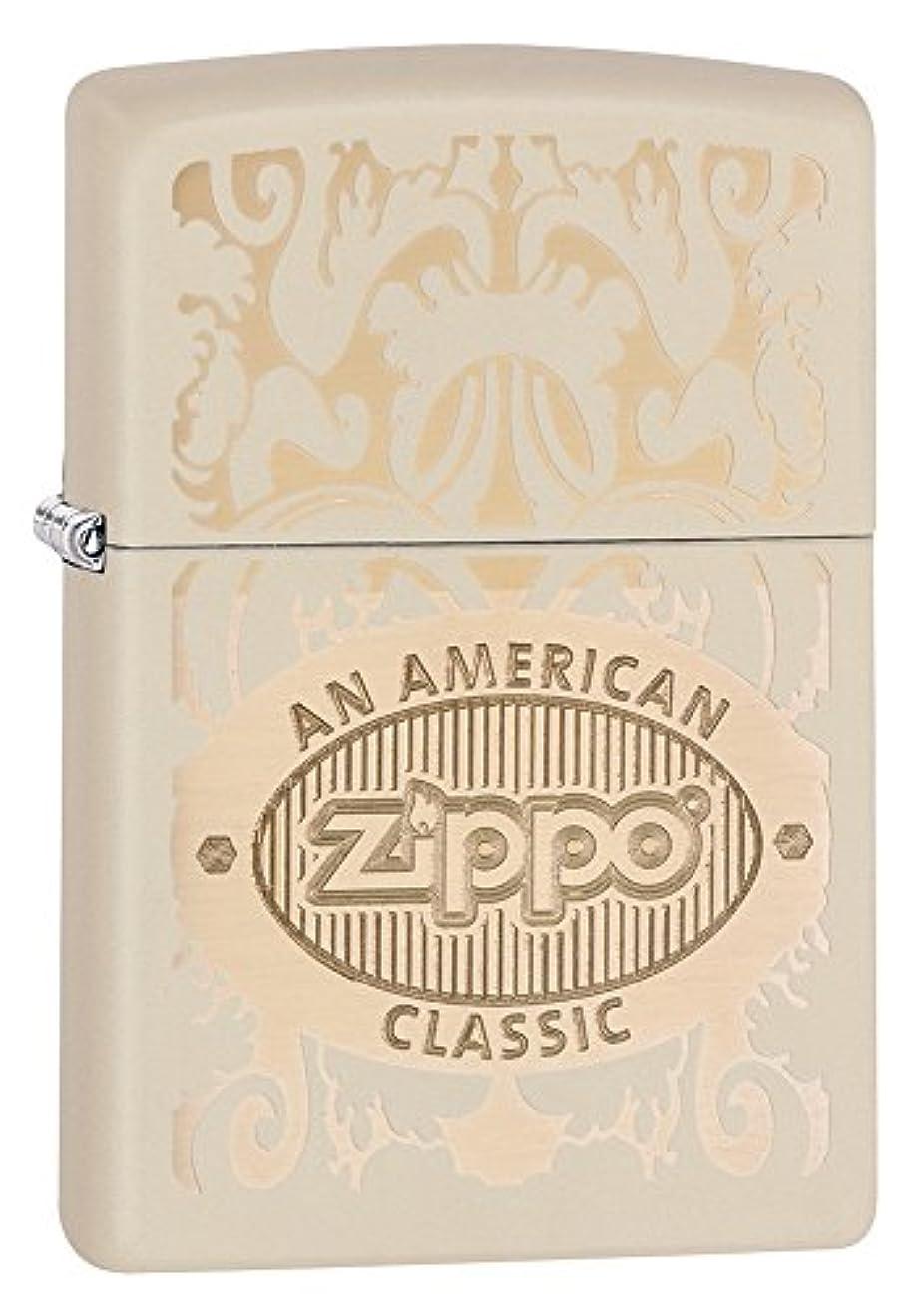エロチックボックス行き当たりばったりZIPPO(ジッポー) Logo (ロゴ) ライター 日本未発売 28854 Cream Matte [並行輸入品]