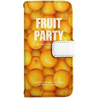 [ZI:L](ジール) HUAWEI P20pro HW-01K [LL] ケース 手帳型 スマホケース nbfd047e フルーツ柄 オレンジ カードタイプ スマホカバー 携帯カバー
