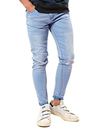 JIGGYS SHOP ダメージジーンズ メンズ スキニーデニム ジーパン ストレッチ パンツ