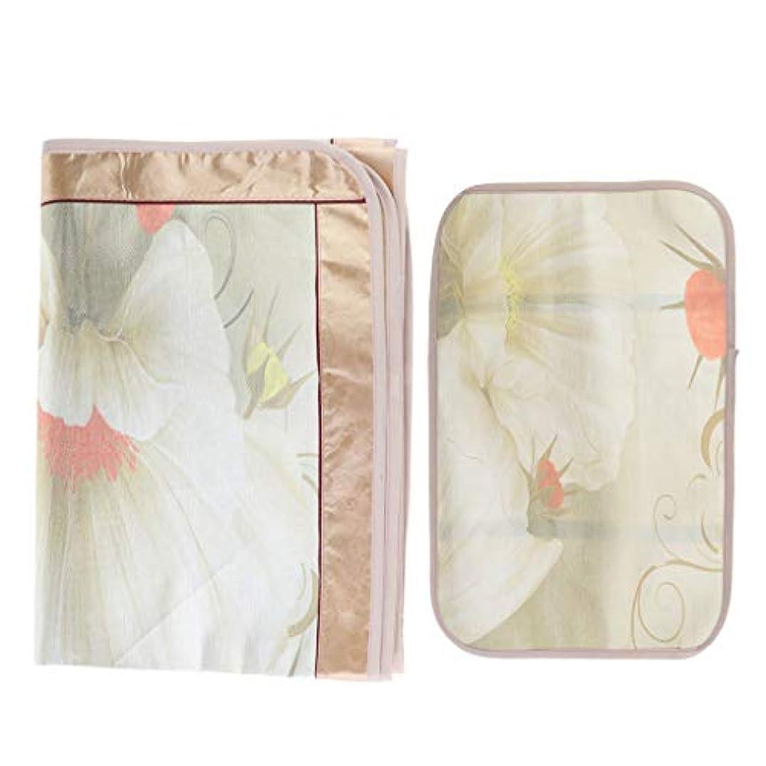 何パワーセル虫を数えるマッサージ台 ベッドシーツ 枕カバー付き エステベッドカバー 美容化粧品ベッド - フローラル6