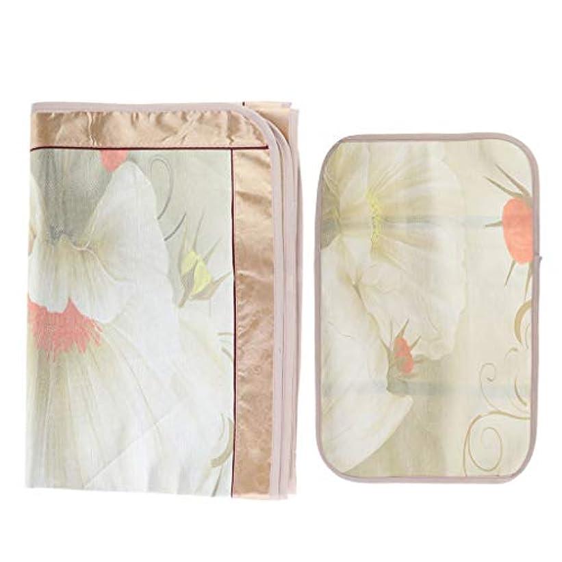 切断する従来の与えるマッサージ台 ベッドシーツ 枕カバー付き エステベッドカバー 美容化粧品ベッド - フローラル6