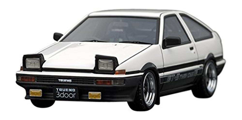 イグニッションモデル 1/43 トヨタ スプリンター トレノ (AE86) 3ドア GT アペックス ホワイト/ブラック 完成品