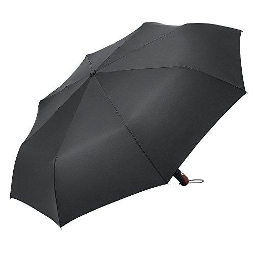 PLEMO 折りたたみ傘 自動開閉折り畳み傘 大きな傘 頑丈な8本骨傘 ワンタッチ開閉 210T撥水加工 耐強風 大型 収納ケース付 ブラック (113センチ)