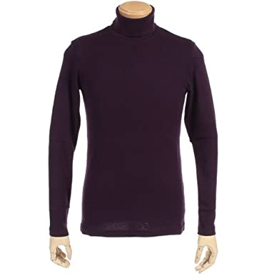 Norikoike Cotton Cashmere Turtleneck MM0407: Purple