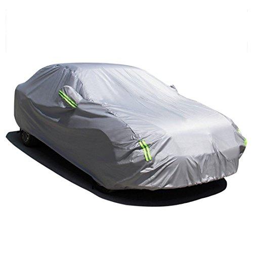 MATCC カーカバー 自動車ボディカバー 防水防塵防輻射紫外線 黄砂対策 蛍光反射ストリップ付き(470×180×150cm)
