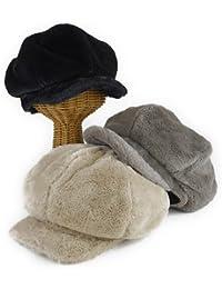 ノーブランド品 フェイクファー6パネルビッグキャスケット ヤング帽子