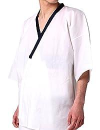 肌着 男性用 メンズ 綿 晒 さらし 和装小物 M L 濃紺