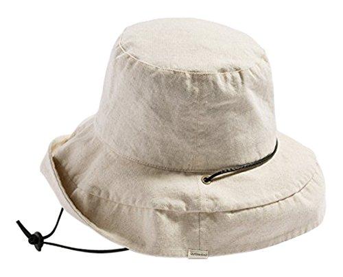 クイーンヘッド 紐付きブリムフレンチハット UVカット 帽子 レディース ハット 大きいサイズ つば広 紫外線...