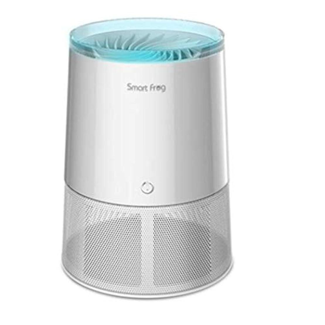 バタフライレジデンスバタフライUSB蚊よけ屋内カのキラーの蚊取り器、携帯用LEDライトはえ虫無害放射線吸引のZapperの蚊のキラー-White