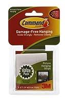 コマンドストリップdamage-free Hanging :画像ぶら下げストリップ6Medium 6.0セットパックof 4