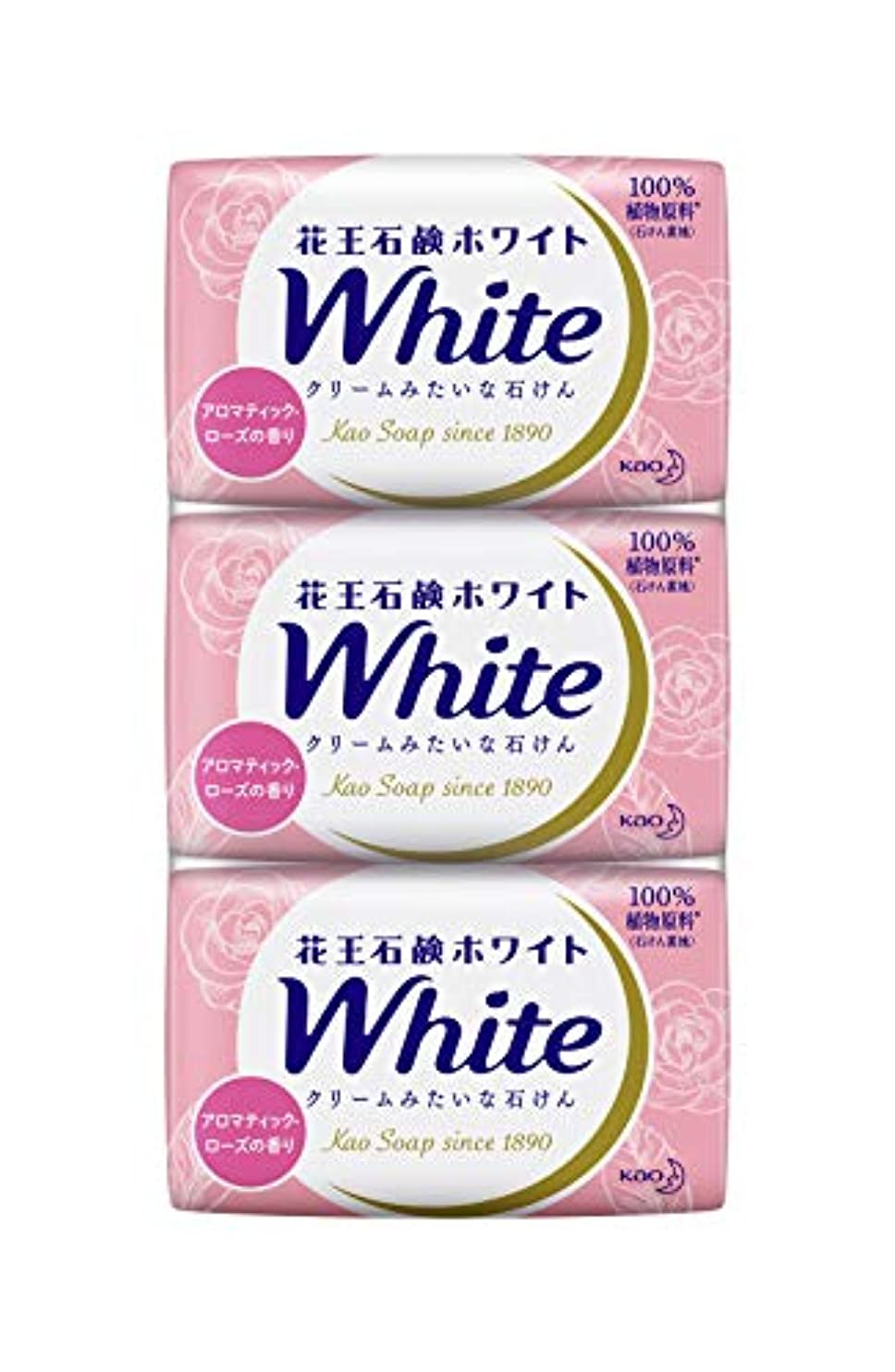 電圧雪だるまを作る不規則性花王ホワイト アロマティックローズの香り レギュラーサイズ3コ