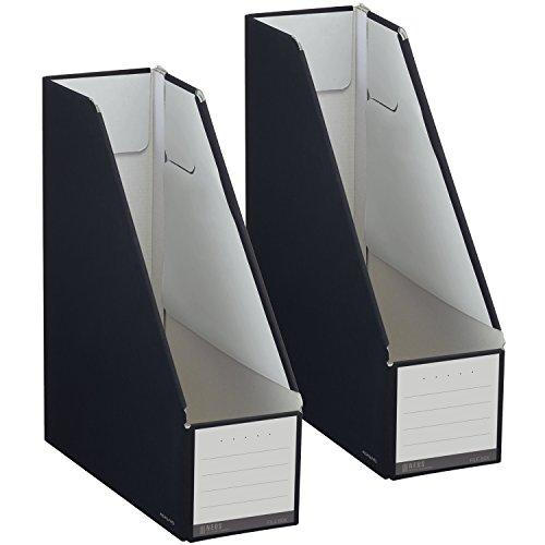 RoomClip商品情報 - コクヨ ファイル ファイルボックス NEOS スタンドタイプ A4 2個セット ブラック フ-NEL450DX2