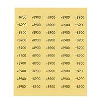 【250枚】プライスシール 5100円~10000円 10×5mm クリア (¥8900)
