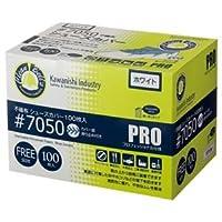 (まとめ) 川西工業 不織布シューズカバー 7050ホワイト 1箱(100枚) 【×4セット】 〈簡易梱包
