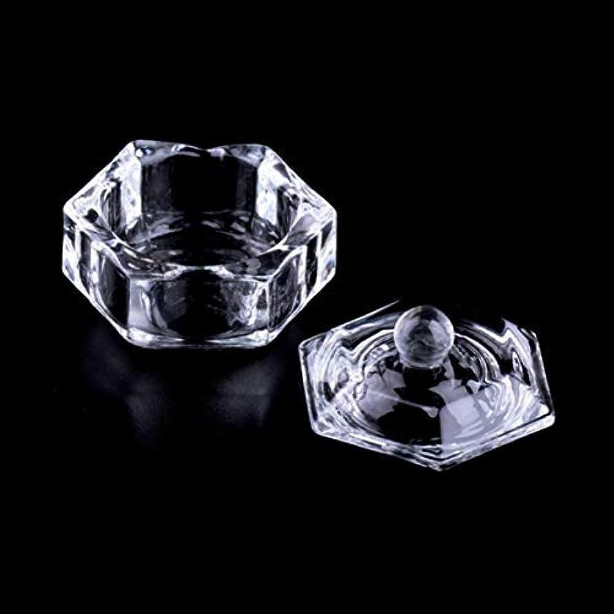 フィードバックゼロ環境Intercoreyプロフェッショナル新しいネイルアートアクリルクリスタルガラスDappenディッシュボウルカップクリアネイルツールネイルアート透明キット