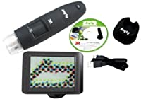 ワイヤレスデジタル顕微鏡 TVモニター 等倍~200× /1-2634-02